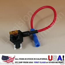 ADD-A-CIRCUIT BLADE STYLE ATM LOW PROFILE MINI FUSE HOLDER FUSE TAP + 5AMP FUSE