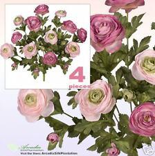 Lot of 48 Ranunculus Flowers Artificial Silk Plant ROPK