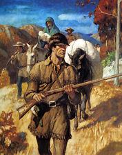Wyeth N C Daniel Boone Print 11 x 14   #3236