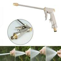 High Pressure Water Spray Gun Metal Brass Nozzle Garden Hose Pipe Car Lawn Wash