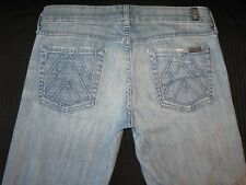 7 for all Mankind Womens A Pocket Bootcut Jeans w Stretch Distressed Sz 28