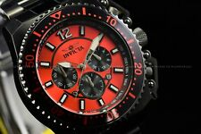 Invicta Men's 48mm Pro Diver Black with Ferrari Red Dial Chronograph SS Watch