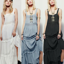 Evening Gown Prom Gypsy Picnic Garden Party Peasant Summer Maxi Long Slip Dress