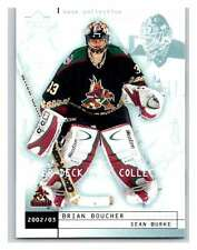 (HCW) 2002-03 UD Mask Collection #64 Brian Boucher/Sean Burke Coyotes