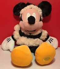 Mickey Mouse Christmas Plush Authentic Original Disney Store Exclusive