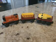 Thomas the Train RUSTY Engine with DUMPER and CEMENT MIXER Wooden Railway