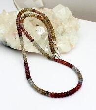 ZAFIRO CADENA de piedras preciosas Collar multyfarbe ca.125kt. 49cm Hermoso
