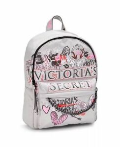 NWT Victoria's Secret Graffiti City Backpack - Grey - FREE SHIP