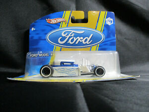 Hot Wheels 1:50 Scale Ford Model A Hot Rod Coupe White and Blue