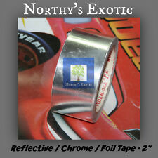 """2"""" Chrome / Foil  / Silver Reflective Tape for Hydroponics (Qty:2)"""