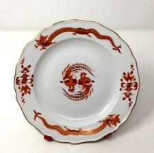 "Antique Rare Meissen Red Opulent Court Dragon Dinner Plate 10"" Circa 1924"