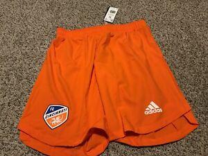 adidas MLS FC Cincinnati Orange Shorts Men's Size Medium NWT Aeroready