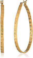 Lucky BRAND Jlru1005 Gold-tone Hammered Medium Oblong Hoop Earrings E176