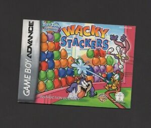 Wacky Stackers Gameboy Advance MANUAL ONLY Authentic Small Tear on Back