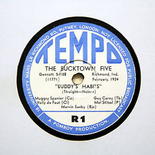 "THE BUCKTOWN FIVE ""Buddy's Habits / Hot Mittens"" TEMPO R-1 [78 RPM]"