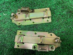 Flat Slide Door Bolt 160mm x 65mm Long Lock pack of 2