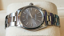 ROLEX OYSTER PERPETUAL 5500 AUTOMATIC 34MM STEEL GRAY DIAL MENS WATCH