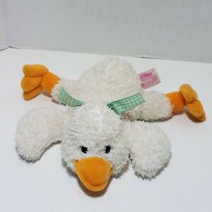 "Russ Plush Beans Quackles Duck Goose White Orange #27572 9"" Long Stuffed Toy HTF"