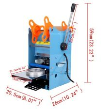 Manual 350W Cup Sealer Sealing Machine Coffee Boba Bubble Tea 300 500 Cups/hr