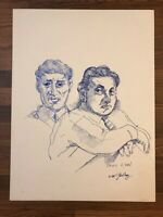 FRANK GUTIERREZ PAINTING DRAWING ORIGINAL Pen And Ink Frank And Paul Leni