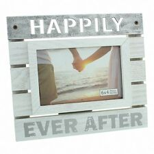 New View Wooden Panel Photo Frame 6x4 Happily Ever After - Ideal Gift