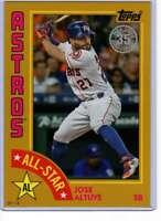 Jose Altuve 2019 Topps 1984 Topps All-Stars Oversize 5x7 Gold #84AS-JA /10 Astro