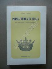 Poesia Nuova in Italia tra Ermetismo e Neoavanguardia Alberto Frattini IPL 1968