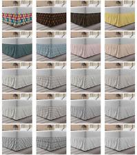 Ambesonne Geometry Rhombus Bedskirt Elastic Wrap Around Skirt Gathered Design