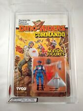 1989 TYCO DINO RIDERS COMMANDO - GLYDE - MOSC UKG GRADED 75 - AFA SEALED FIGURE