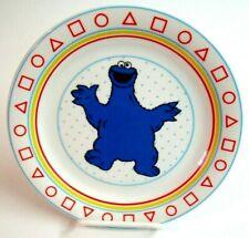 Vintage Sesame Street Cookie Monster Porcelain Plate-NEW OLD STOCK-1980's-UNUSED
