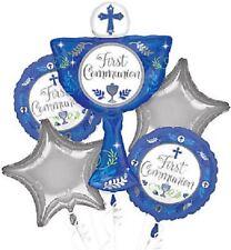 First Communion Balloon Bouquet 5 Pieces ( Boy's)