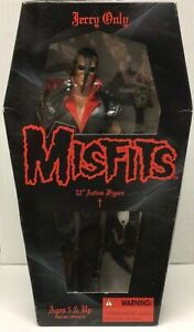 """1999 Misfits Bassist Jerry Only 12"""" Figure 21st Century Toys Danzig Samhain WCW"""