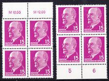 Briefmarken DDR MiNr 847 XyII 2x(OR3+UR3) W.Ulbricht **