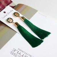 Long Tassel Earrings New Arrival Fashion Broncos Crystal Dangle Earrings Women's