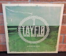 TAKING BACK SUNDAY - TAYF10 Acoustic, Limited BONE WHITE VINYL LP New! OOP!