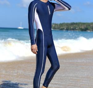 Herren Sonnenschutz Neoprenanzug Langarm Badeanzug einteiliger Badeanzug DE