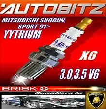 FITS MITSUBISHI SHOGUN SPORT 3.0 V6 1991> BRISK SPARK PLUGS X6 YYTRIUM
