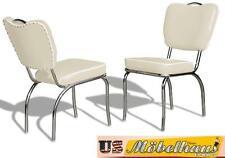 co-26 blanc BEL AIR Meuble 2 chaises dîner de cuisine dans le style 50er ans USA