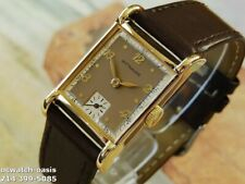 1940's Vintage Wittnauer, Stunning Brown Dial, Serviced & Warranty