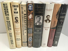 Set of 8 Hardcover Abraham Lincoln Biographies and Histories - Free Shipping