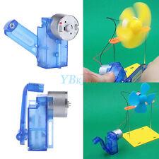 6V Hand Crank Generator DIY Mechanical Motor Reduction Gear Box Kits Gift Useful