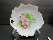 Vintage Leaf Shaped Dish White ~ Gold Trim ~ Made in Occupied Japan