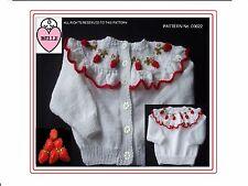 Infant knitting pattern for cardigan, sweater, jumper, jacket, pullover. girl