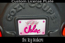 Decals Stickers fits Little Tikes Cozy Coupe License Number Plate Princess Name