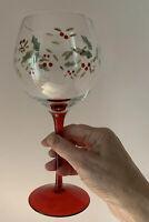Lot 4 Vtg Pfaltzgraff Winterberry 12oz Footed Stemed Wine Water Glasses