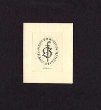 EXLIBRIS,086b - Alfred Cossmann , Monogramm