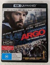 ARGO - 4K ULTRA HD + Blu-ray Region B oz seller DVD Ben Affleck Bryan Cranston