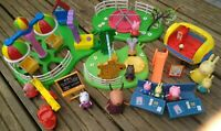 Peppa pig playground/fairground bundle, balloon ride, swing, figures, accs
