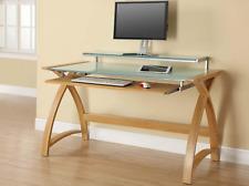 Jual Furnishings Light Oak Laptop / Computer Desk & Keyboard Shelf PC201-1300mm