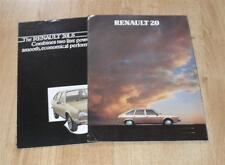 Renault 20 Brochure 1981 - 20 GTD - 20 TS - 20 TX